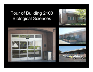 Tour of Building 2100 Biological Sciences
