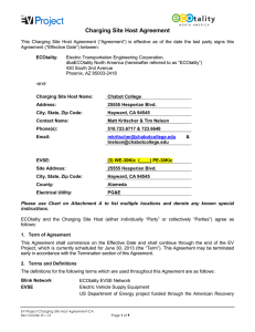 Charging Site Host Agreement