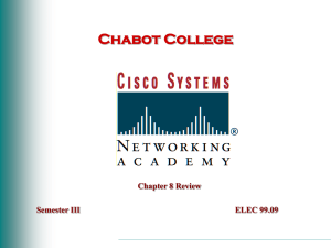 Chabot College Chapter 8 Review Semester III ELEC 99.09