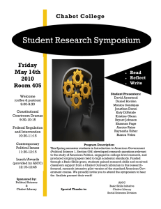 Student Research Symposium Chabot College Friday May 14th