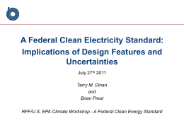 A Federal Clean Electricity Standard: Implications of Design Features and Uncertainties