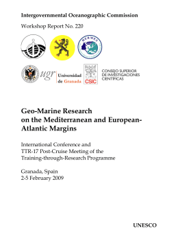 Geo-Marine Research on the Mediterranean and European- Atlantic Margins