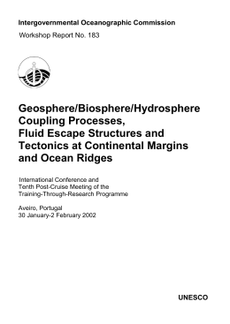 Geosphere/Biosphere/Hydrosphere Coupling Processes, Fluid Escape Structures and Tectonics at Continental Margins
