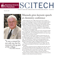 Sci Tech Marande gives keynote speech at chemistry conference