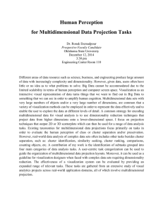 Human Perception for Multidimensional Data Projection Tasks
