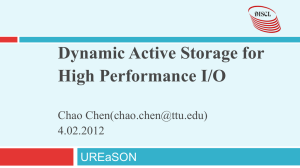 Dynamic Active Storage for High Performance I/O  Chao Chen()