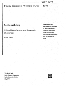S ustainabil'ityinegnrtoa Ethical  Foundations  and  Economic 1302