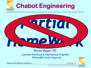 Partial HomeWork Chabot Engineering Bruce Mayer, PE