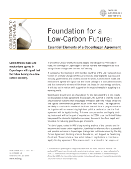 Foundation for a Low-Carbon Future: n e