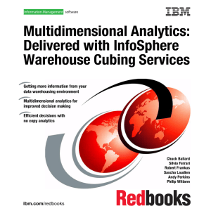 Multidimensional Analytics: Delivered with InfoSphere Warehouse Cubing Services Front cover