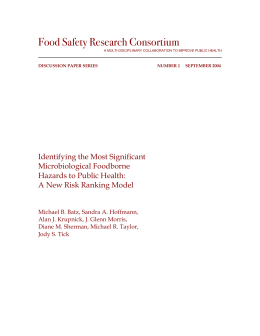 Food Safety Research Consortium