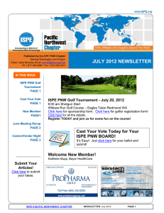 JULY 2012 NEWSLETTER  ISPE PNW Golf Tournament - July 20, 2012