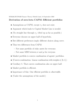importance of capm