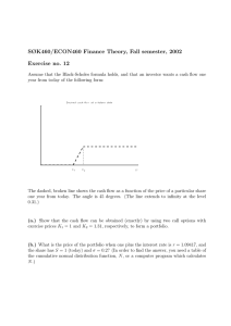 SØK460/ECON460 Finance Theory, Fall semester, 2002 Exercise no. 12