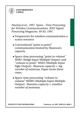 Paulraj et al., 1997. Space - Time Processing
