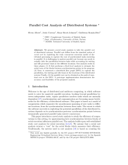 Parallel Cost Analysis of Distributed Systems ? Elvira Albert , Jes´