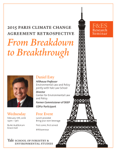 From Breakdown to Breakthrough F&ES 2015 paris climate change