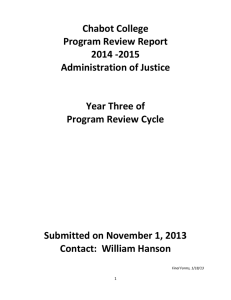 Chabot College  Program Review Report  2014 ‐2015  Administration of Justice