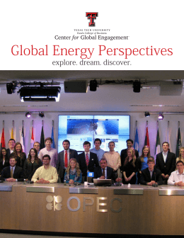 Global Energy Perspectives explore. dream. discover.