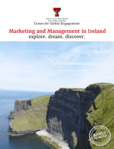 Marketing and Management in Ireland explore. dream. discover.