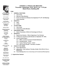 AGENDA of REGULAR MEETING Board Room, Building 200