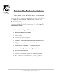 Definition of the Academic/Faculty Senate