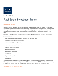 Real Estate Investment Trusts Partnering for Success
