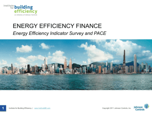 ENERGY EFFICIENCY FINANCE Energy Efficiency Indicator Survey and PACE 1