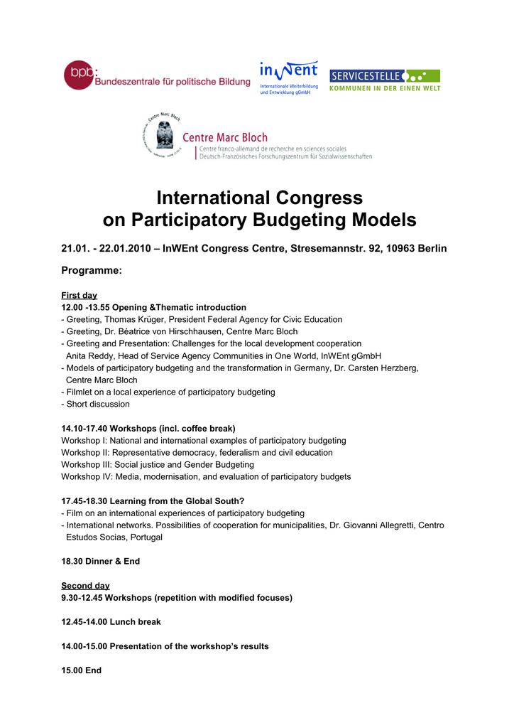 International Congress on Participatory Budgeting Models e2b117b705