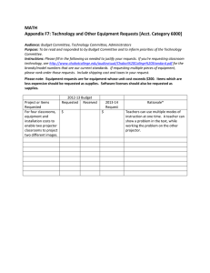 MATH Appendix F7: Technology and Other Equipment Requests [Acct. Category 6000]