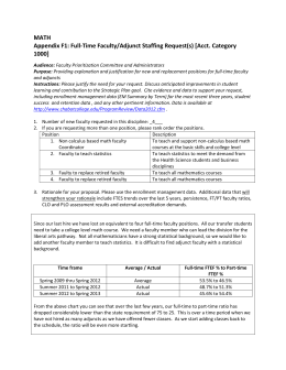 MATH Appendix F1: Full-Time Faculty/Adjunct Staffing Request(s) [Acct. Category 1000]