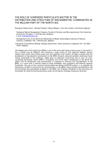 THE ROLE OF SUSPENDED PARTICULATE MATTER IN THE