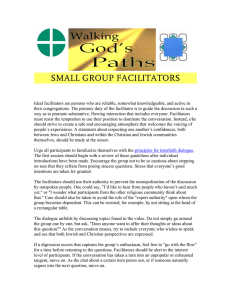 SMALL GROUP FACILITATORS