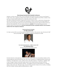 Bloomsburg University Annual Sankofa Conference