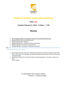 Health & Safety Committee Meeting Minutes Room