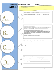 ABCD  Evaluating Information with        ...