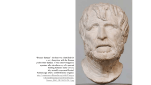 """Pseudo-Seneca"": the bust was identified for"