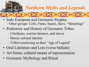 Northern Myths and Legends • Indo-European and Germanic Peoples