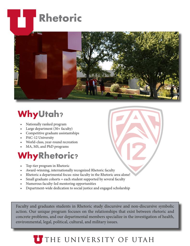 Rhetoric Why Utah?