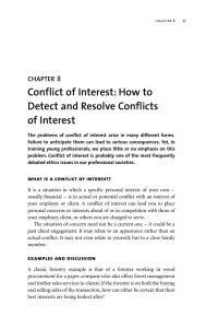 Conflict of Interest: How to Detect and Resolve Conflicts of Interest 8