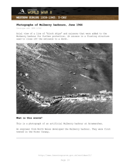 WESTERN EUROPE 1939-1945: D-DAY Photographs of Mulberry harbours, June 1944
