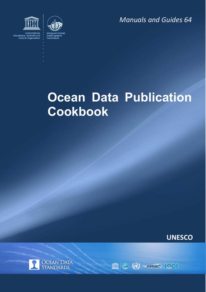 Ocean Data Publication Cookbook UNESCO