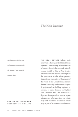 The Kelo Decision