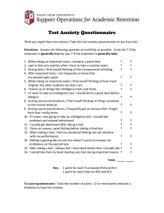 Test Anxiety Questionnaire