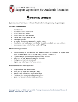 A ural Study Strategies
