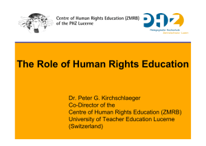 The Role of Human Rights Education
