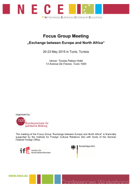 "Focus Group Meeting ""Exchange between Europe and North Africa"""