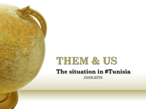 THEM & US The situation in #Tunisia INSIGHTS