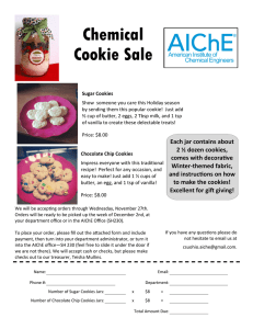 Chemical Cookie Sale