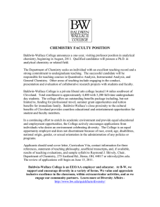 CHEMISTRY FACULTY POSITION